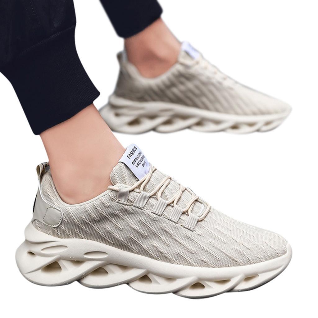 SAGACE кроссовок Summer Мужского легкие сетки Покрытие Отдых дышащая Мода Удобная Woven Running обувь платформа X0106