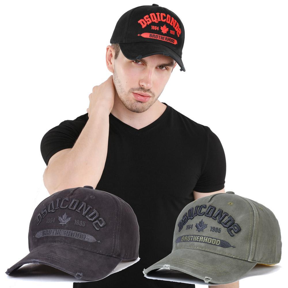 2020 غطاء جديد DSQICOND2 الرجال الفاخرة قبعة مصمم شبكة قبعات البيسبول قبعات النساء Casquette التطريز قابل للتعديل أبي كاب casquette