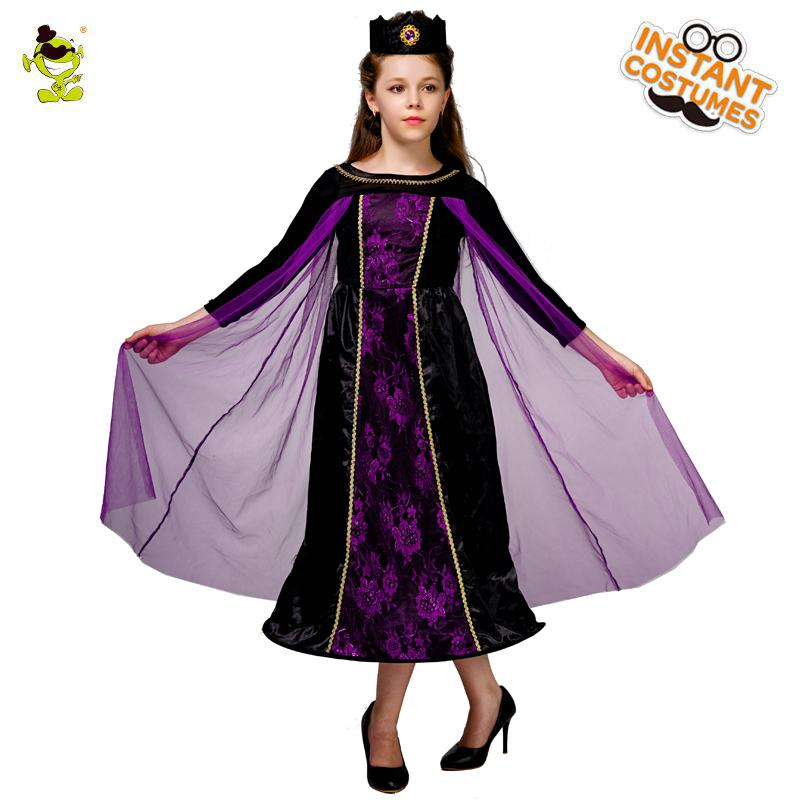 New Design Evil girl Costume Purple Fancy Dress Cosplay Outfits Clothings For Carnival Halloween Party
