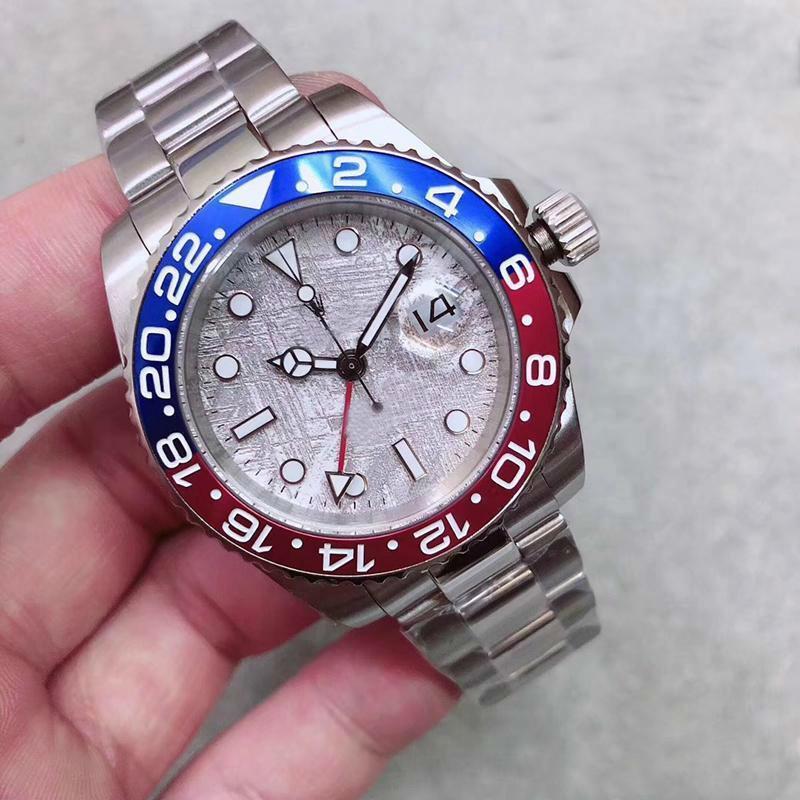 2020 Nova GMT Cerâmica Bezel Mens Movimento mecânico SS automático designer de relógios de luxo Self-vento Sports Jubilee mestre Relógios de pulso