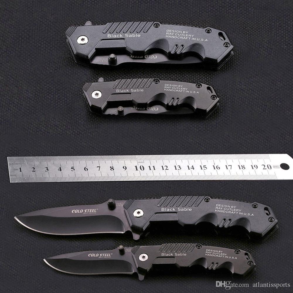Couteau HY217 Cold Steel tactique automatique 7Cr17 Lame de survie Camping acier tactique Knifes Autodéfense Couteaux Portable EDC