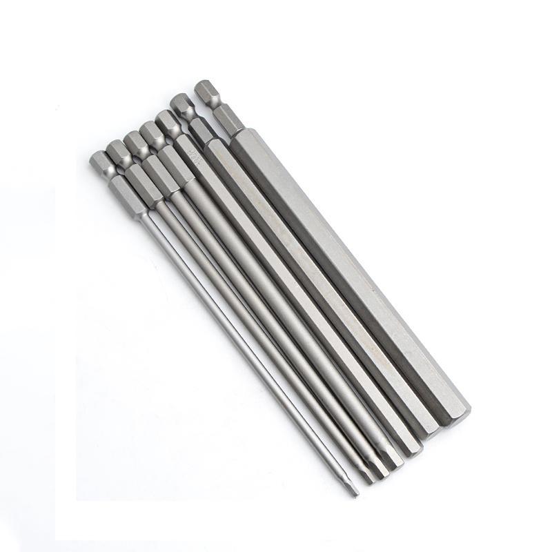 "10pcs 150mm 1/4"" Hex Shank magnetico a testa esagonale Punte cacciavite elettrico Hexagon bit di cacciavite 2,5 / 3/4/5/6/8 / 10mm"