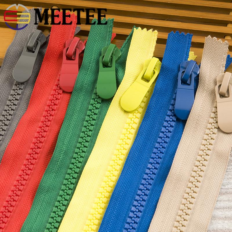 Meetee 8# Resin Zipper Closed-end Tail 20cm Single Head for Coat Pocket Outdoor Handbag Clothing Sewing Accessories ZA210