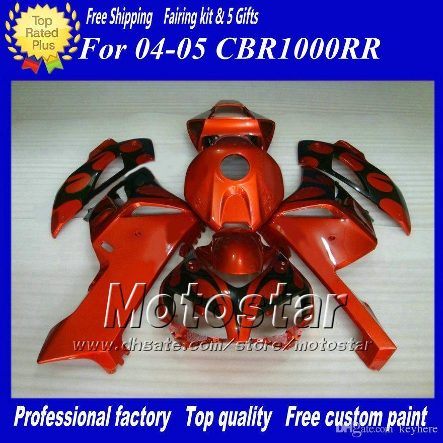 Oi-Qualidade Original Carenagens de moldes para HONDA CBR1000RR 04 05 CBR1000 RR CBR 1000RR 2004 2005 kits de carenagem da motocicleta
