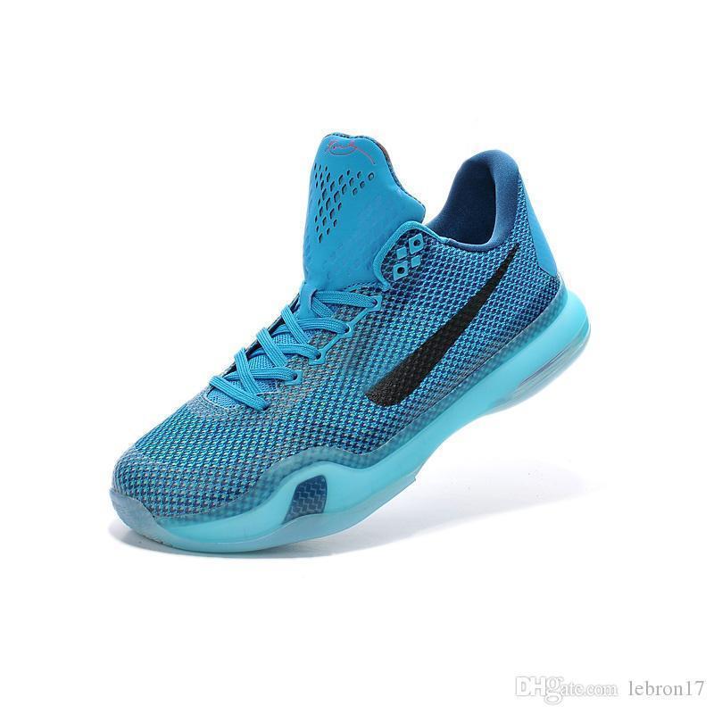 Novas mens Bryants 10 sapatos baixos de basquete elite retro ZK10 Azul Branco Páscoa James Natal lebron 17 ZK 10s X sneakers tênis com caixa
