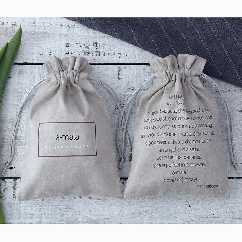 a9be1ad9c473 100 Cotton Flannel Grey Jewelry Bags Custom Personalized Logo Jewellery  Packaging Drawstring Pouch For Wedding Party Decoration UK 2019 From  Homes7, ...