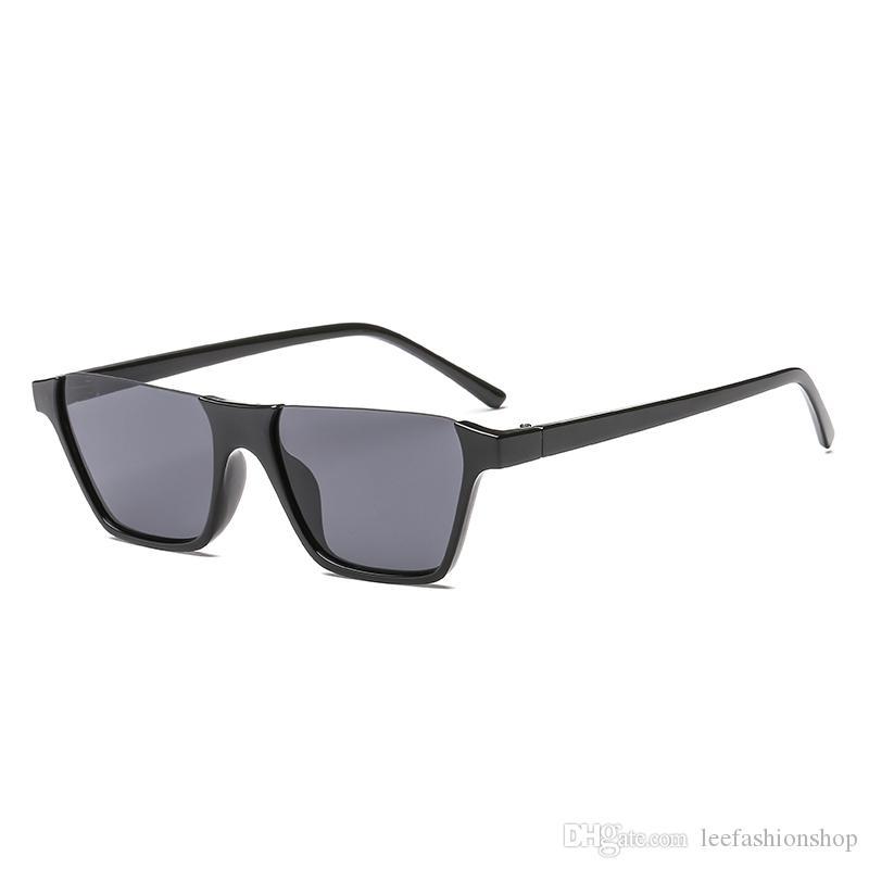 Половина кадра солнцезащитные очки Женщины 2020 мода маленькие солнцезащитные очки ретро половина кадра солнцезащитные очки для женщин мужчин 3298