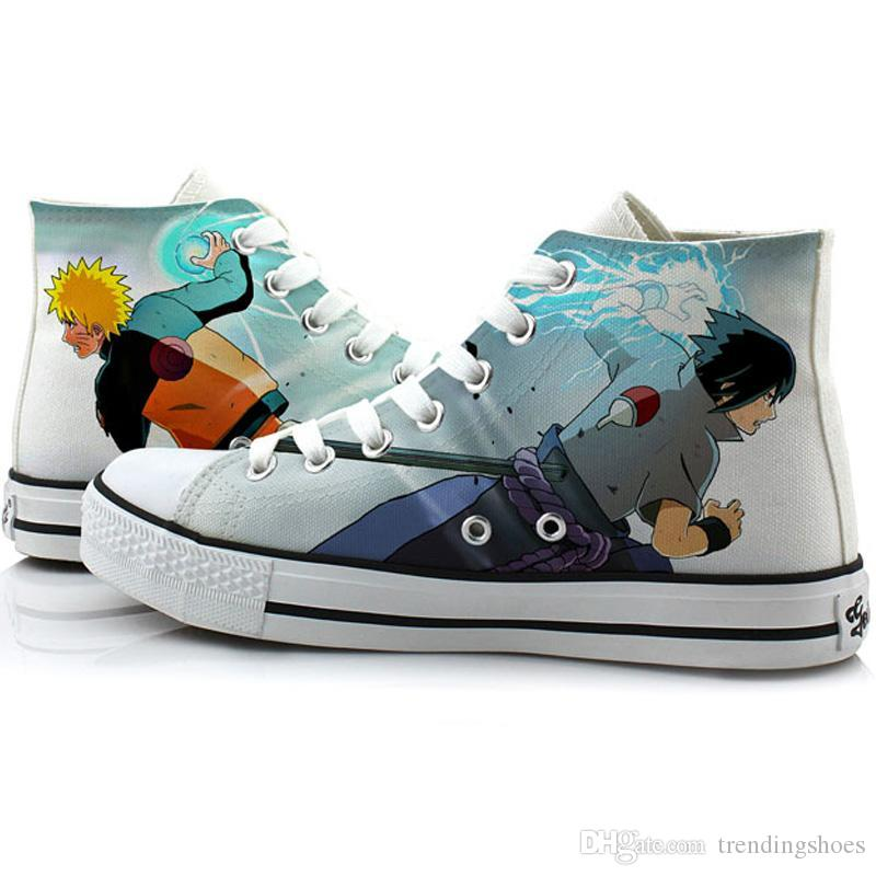 Gumstyle Naruto Unisex Anime Canvas Shoes Casual Low Top Sneakers Flats Plimsolls Lace-up Pumps