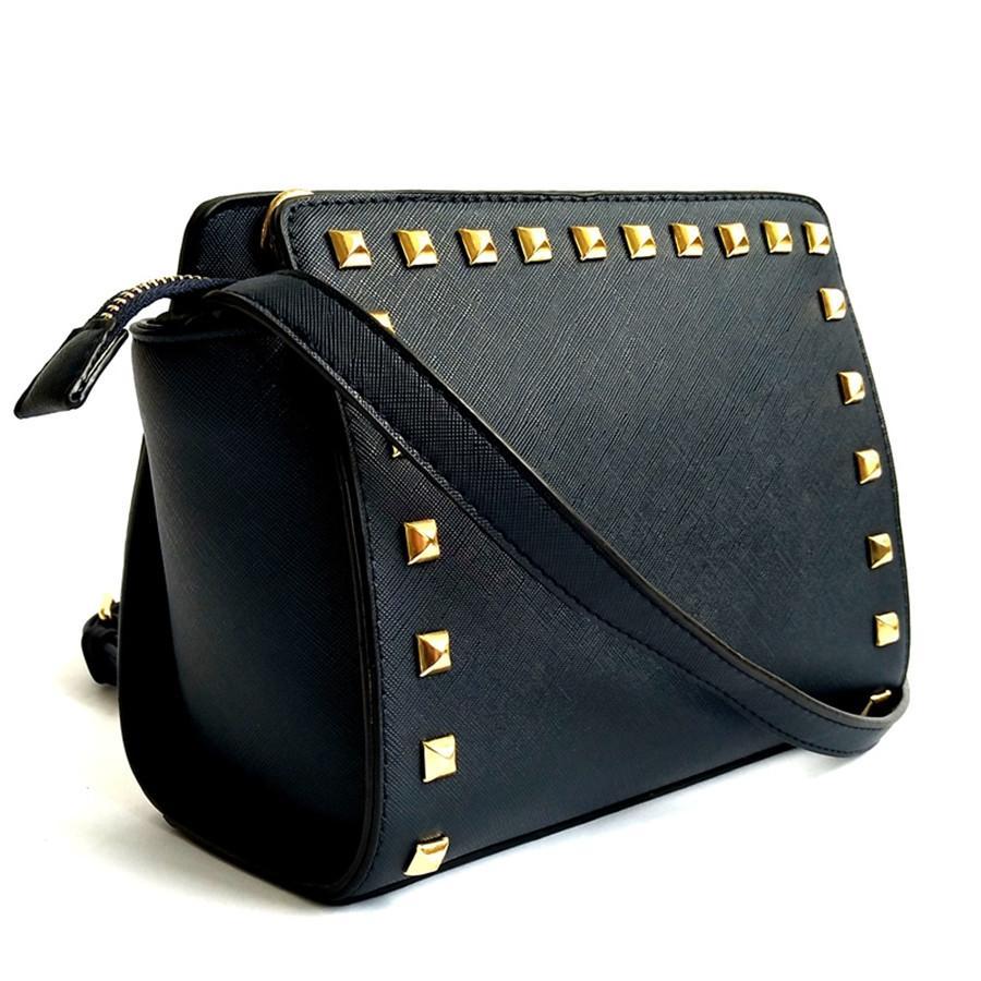 Designer Womens tracolla signore del fiore casuale Rivet spalla del progettista sacchetti femminili Shoulder Bag all'ingrosso migliore # 990