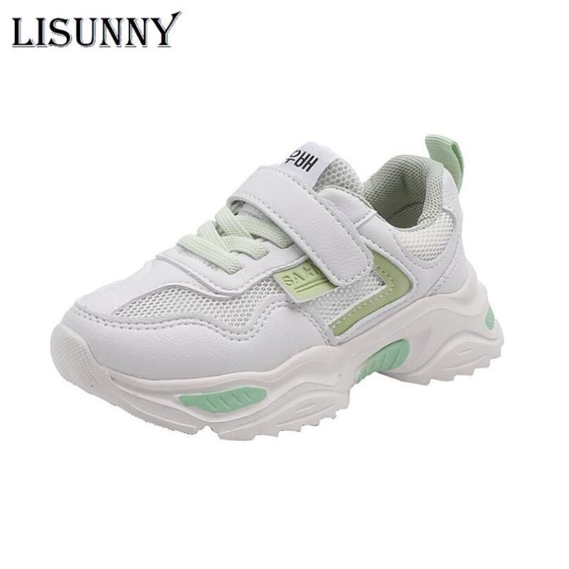 Spring Boys Girls Fashion Sneakers Baby/Toddler/Little Kids Leather Trainers Children School Sport Shoes Soft Running Shoes
