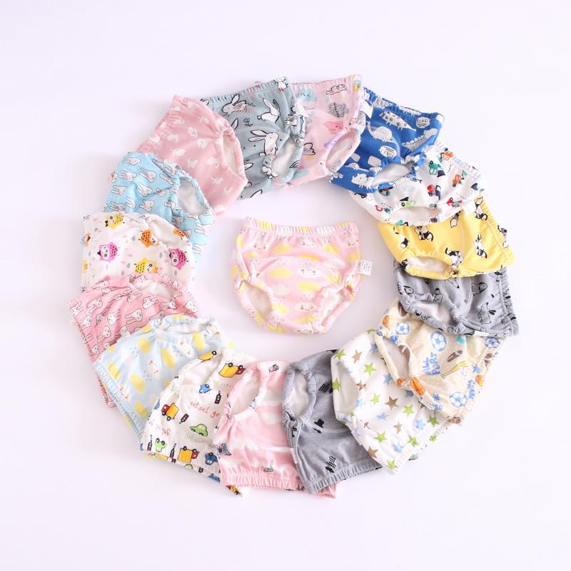 25 colori pantaloni del bambino del bambino di formazione 6 strati di cotone Cambiare pannolini lavabili Infant Cloth Diaper Mutandine riutilizzabili