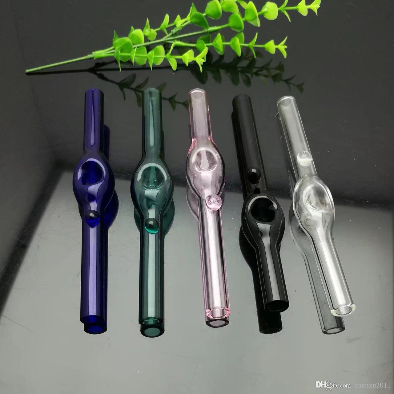 Pipe en verre coloré fovea Vente en gros de bangs en verre Brûleur à mazout Conduites d'eau en verre Supports à huile Fumer, Huile.