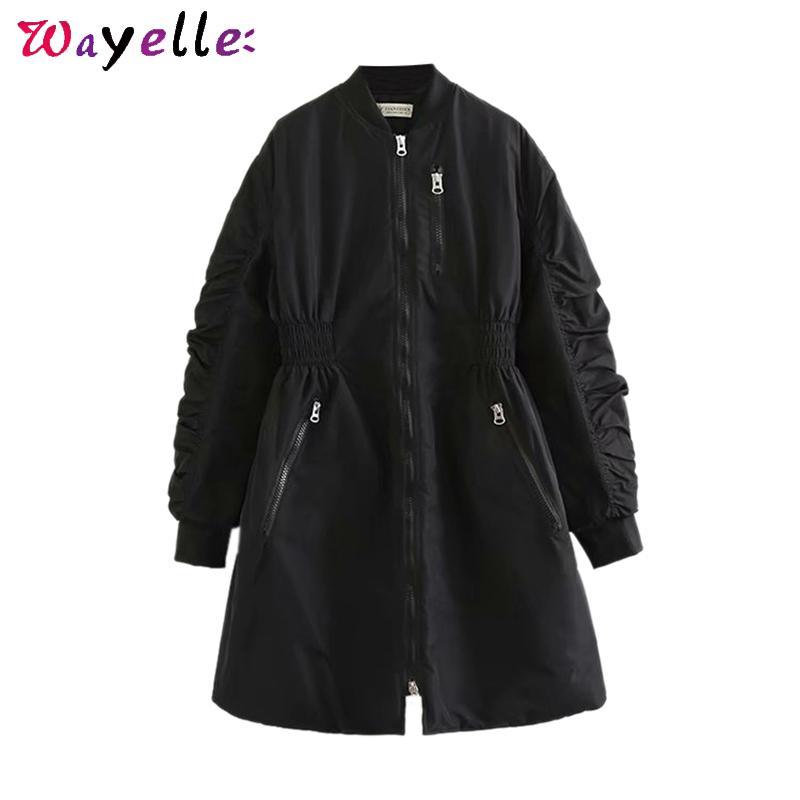 Donne Parka Nero cappotti Outwear addensare Parka cappotto di inverno donne coreane Vintage Chic lungo cappotto Abrigos Mujer Invierno