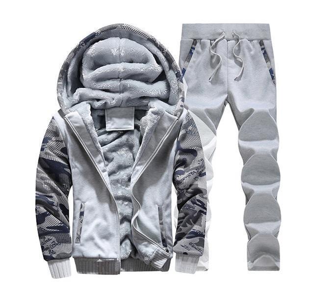 Mens Designer Tute Fashion Casual Due pezzi da Vestiti di sport di lusso del Mens incappucciato spesso attivo Outerwear