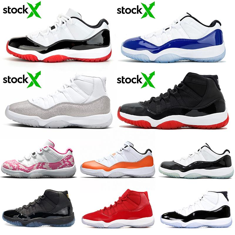 nike air jordan retro 11  11s Basketbol Ayakkabıları 11 Yılan Derisi Concord 45 Kap ve Kıyafeti Erkek Eğitmenler Spor Sneakers 7-13