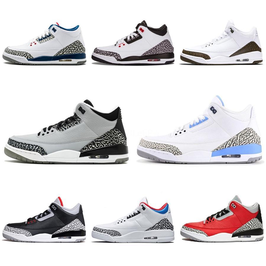 Zapatos de alta calidad Nuevo Retro Baloncesto 3 3S Carolina del Norte Azul Florida Gators para los hombres J4 3S Vuelo Deportes zapatillas de deporte Tamaño 40-47 # 962
