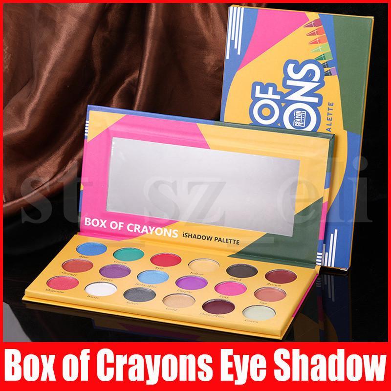 Eye Makeup Eye shadow Palette BOX OF CRAYONS Eyeshadow iShadow Palette 18 Colors Shimmer Matte Eyeshadow Palette