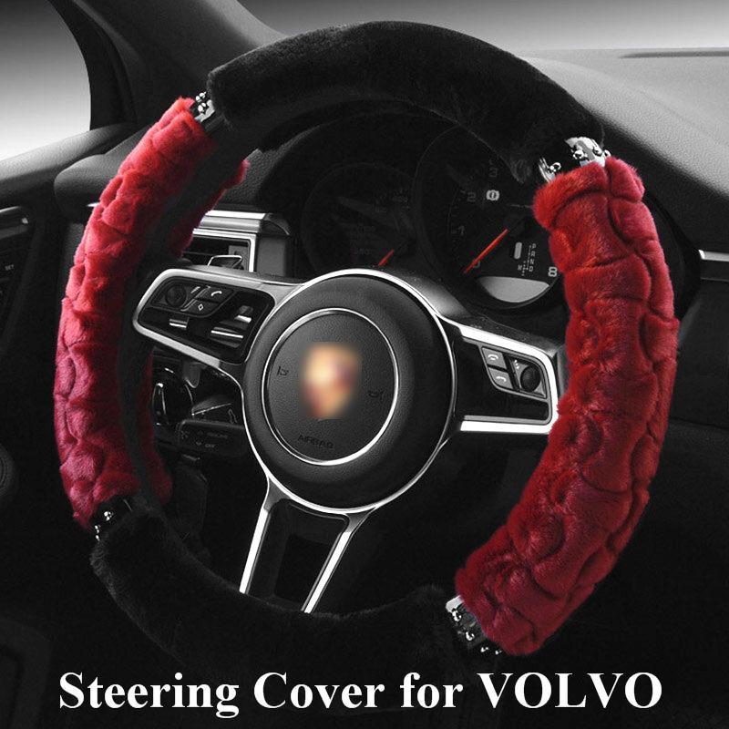 Car Steering Wheel Cover for volvo v70/xc60/xc70/s80 All Model Auto Steering Wheel Cover capa volantes de carro momo