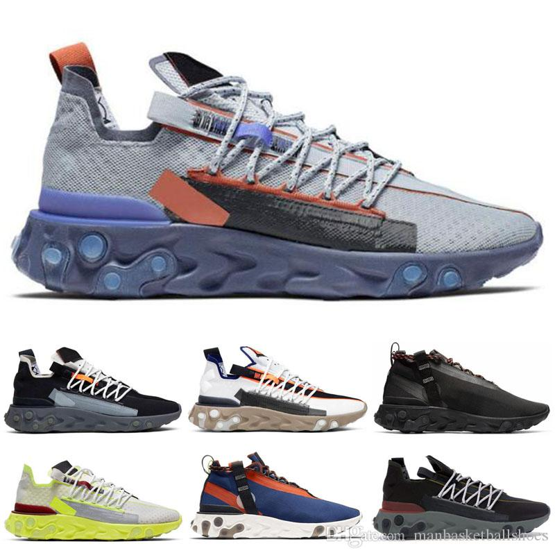 Nike React WR ISPA Sapatos Esportivos Mulheres Platinum Volt Azul Laranja Gun Luz Fumaça Carmesim Fantasma Aqua Homens Trainer Moda Mens tênis