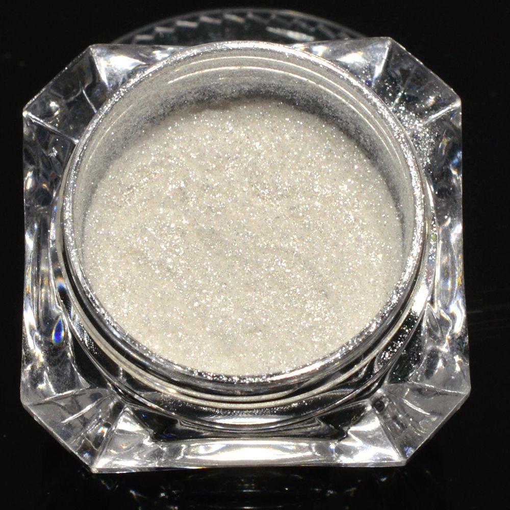 1g Shinning White Diamond Pearl Glitter Powder Art Pigment Diy Shimmer Mermaid Effect Manicure Nail Powder Dust Ch235