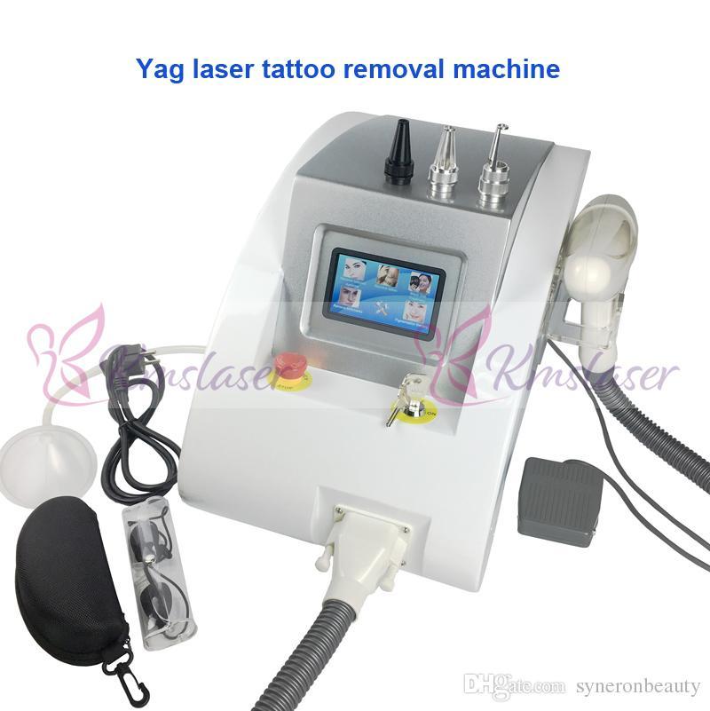 New PRO 1064nm 532nm Q interruptor Yag Laser de remoção de tatuagem máquina EYEBROW Cleaner pigmentação da pele cuidados de beleza equipamentos
