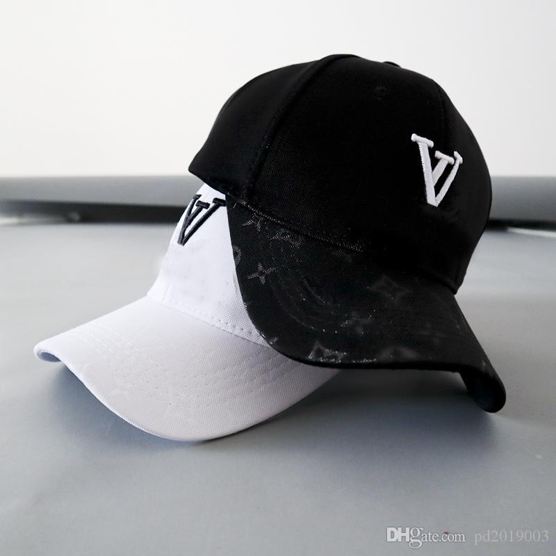Moda en la calle L Cap bordado de la gorra de béisbol de verano al aire libre Deportes de diseño Necesidad sombreros con blanco y negro del envío.
