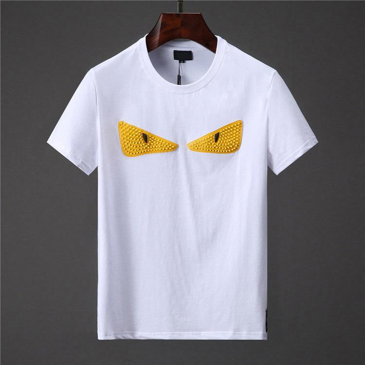 2019 Tide Marca Cotone Donna Uomo Divertente T-Shirt Occhi Carino Stampa Top Quality Casual Maniche Corte Tshirt Sottile con tag Top Tees