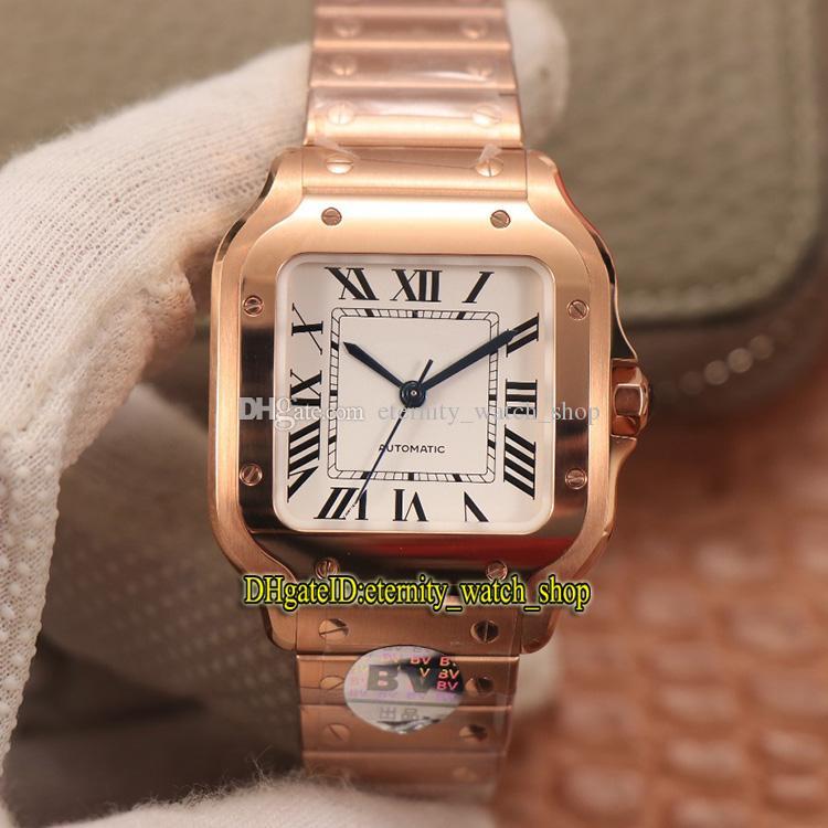 eternidade BVF V2 Versão 0008 Dial Branco Miyota 9015 Automático Lady Watch Sapphire 18k Rose Gold SmartLink Quickswitch Strap Lovers Watches