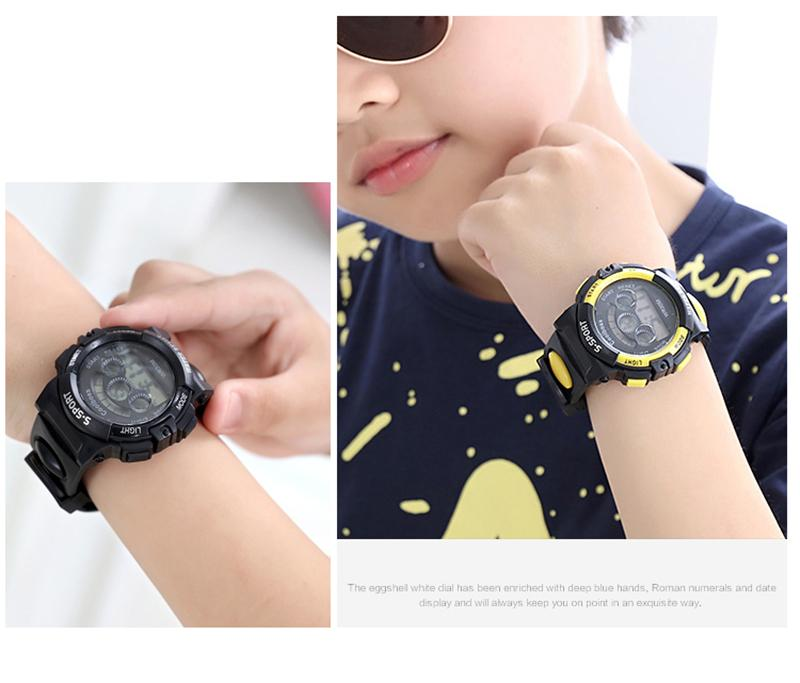 Fashion Long Battery Life Children Watches LED Digital Backlit Kids Watches Boys And Girl Student Multifunctional Quality Wristwatches