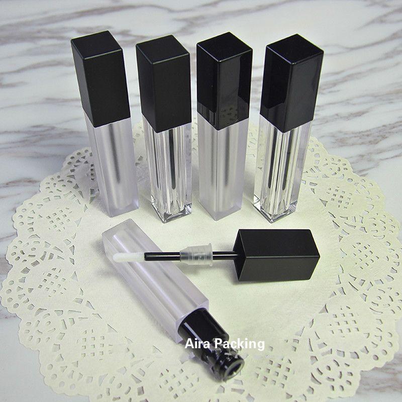6ML 20pcs / 50pcs / lot löschen leeren Plastik Lipgloss Schlauch Frosted Platz Flüssigkeit Lippenstift Flasche Professionelle kosmetische Behälter