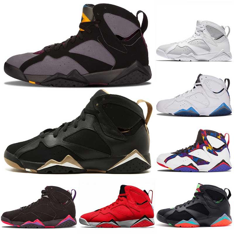 Nike Air Jordan Retro 7  Großhandel Basketball-Schuhe 7 7s Frauen der Männer 2020 neue Luxus-Racers Pullover Bordeaux GMP Patta X Topaz Mist Marken-Designer-Turnschuhe
