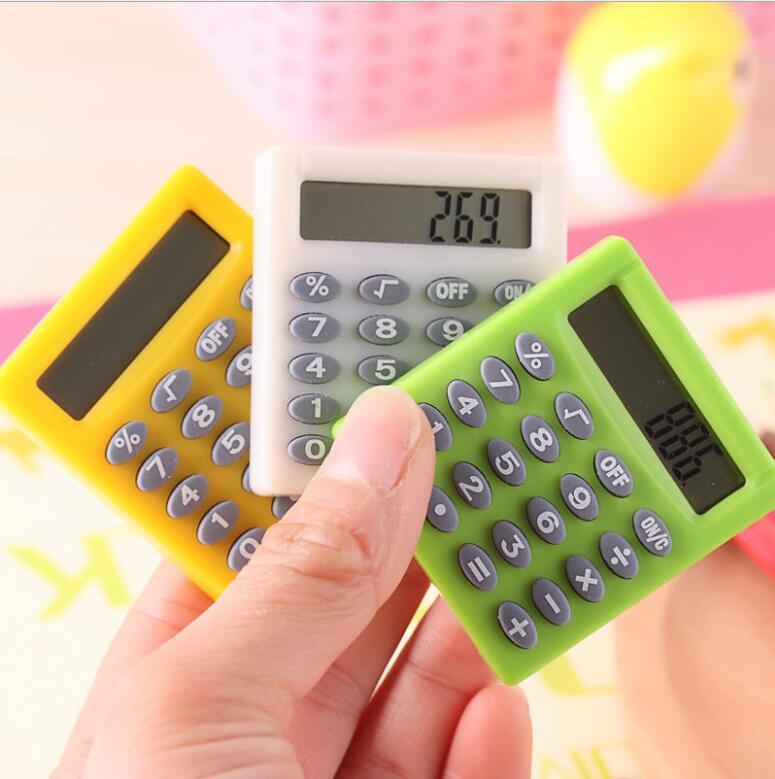 Carino l'apprendimento mini esame studente essenziale piccola calcolatrice portatile a colori piccola calcolatrice 8 cifre piazza multifunzionale