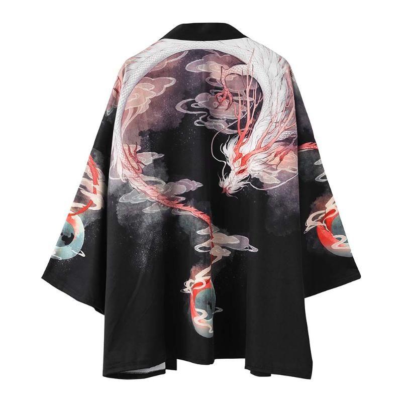 Im japanischen Stil Sommer-neue Art Männer und Frauen Paar Cardigan Sun Blocking Mantle Roben Printed Robes Trend Dreiviertel-Leng