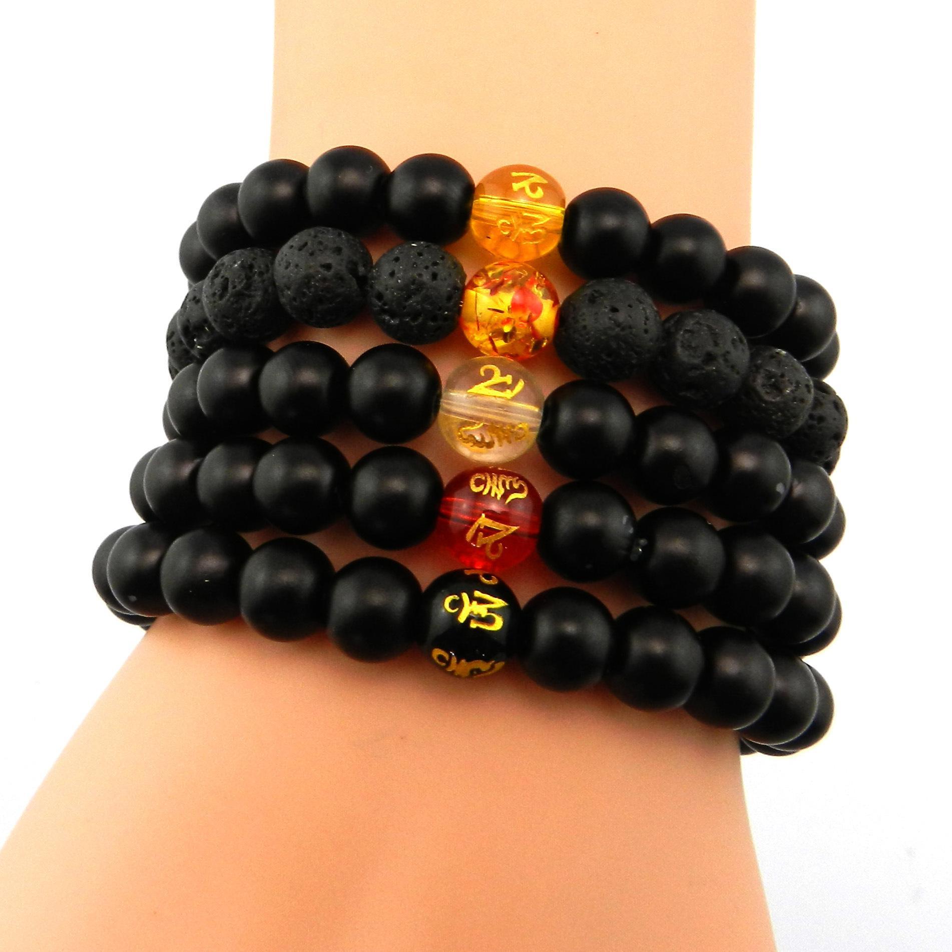 8mm Yoga Handstring Produttore Commercio all'ingrosso trasferimento di gioielli naturali Chalcedony Ice White Jade Buddha Bead Bracelet per le donne