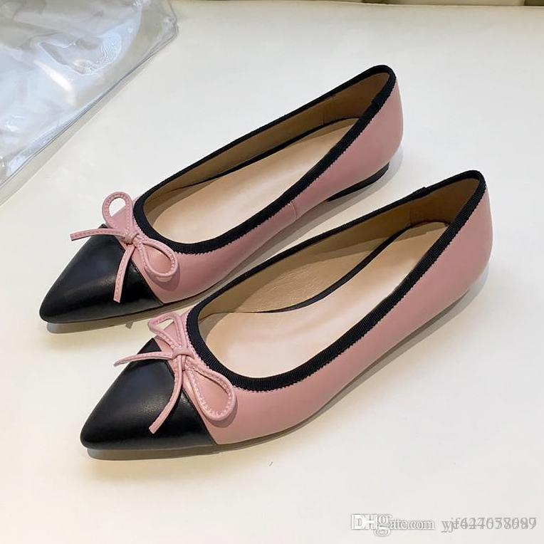 Alta qualidade sexy apontou sapatos baixos, sapatos de balé das mulheres, sapatos de festa de moda, sapatos de couro vestido casual, respirável e comfortabl qw