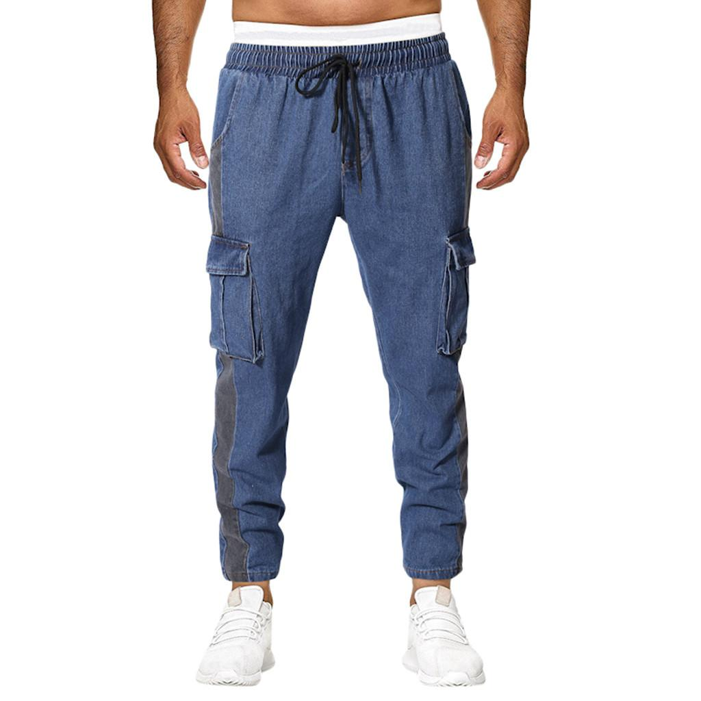 Summer New European And American Mens Multi-pocket Casual Plaid Long Short Straight pantalones hombre streetwear joggers A60