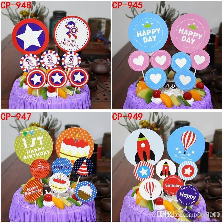 Remarkable New Baking Birthday Cake Flag Kids Birthday Party Cake Decorations Funny Birthday Cards Online Elaedamsfinfo