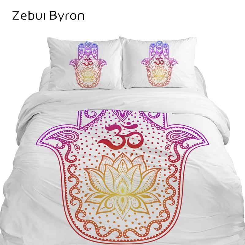 3D bed Set, Bedding sets King/Queen/Custom Size,duvet cover set colourfull Hamsa Hand,Blanket/Quilt Cover Set,Drop Ship