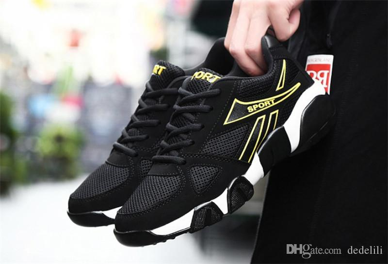 2019 Hot Sale voando juventude selvagem moda respirável grife sapatos tênis sneakers tricolor mes leve tênis