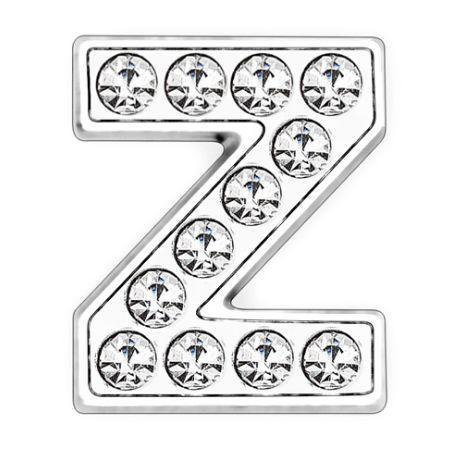 50pcs / lot 8mm volle Rhinestones Bling Dia-Buchstabe Z DIY-Charme-Sitz für 8mm Lederarmband Telefon-Streifen SL0013