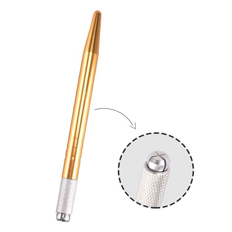 DHL Transporte rápido de liga de Alumínio Maquiagem Sobrancelha Permanente Microblading Pen Máquina de Tatuagem 3D Manual Doule Head Pen 100 pçs / lote