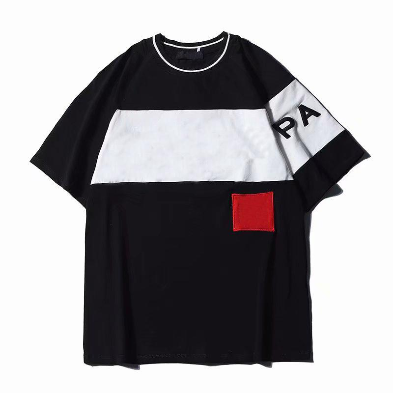 19SS Cartas bordado diseñador de la camiseta para los hombres de las mujeres Tee Shirts Casual Streetwear verano de manga corta ropa transpirable S-2XL