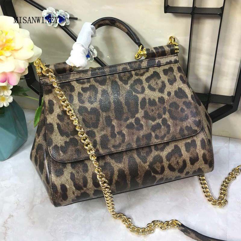 44a27090ddd0 New Miss Sicily Leopard-print Fashion Chain Envelope Single Shoulder Chain  Tidal Bag ...