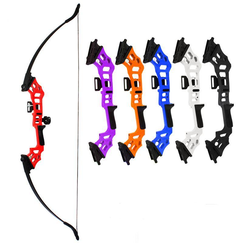 """30 / 52 """"롱 보우는 직선 활 스포츠 게임 6 색 낚시 대상 사냥 오른손을 촬영 양궁 게시 중단 곡궁을 40lbs"""