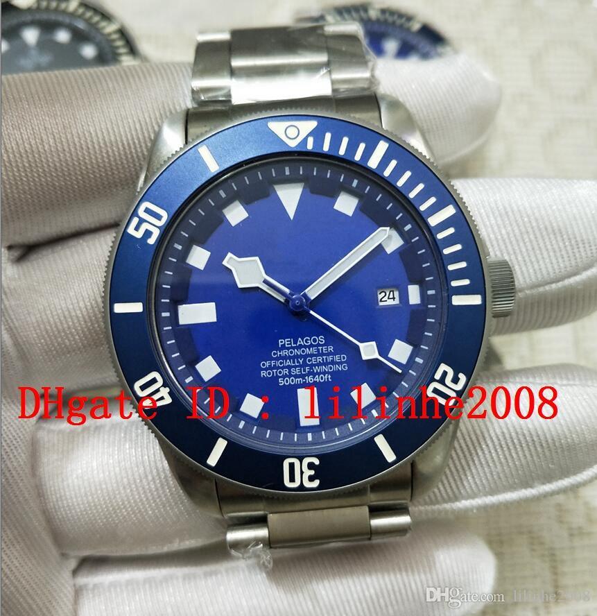 relógio 4 dos homens estilo Relógios de pulso máquinas automáticas Ásia 2,813 movimento 40MM azul discar Mens relógios data Calendar