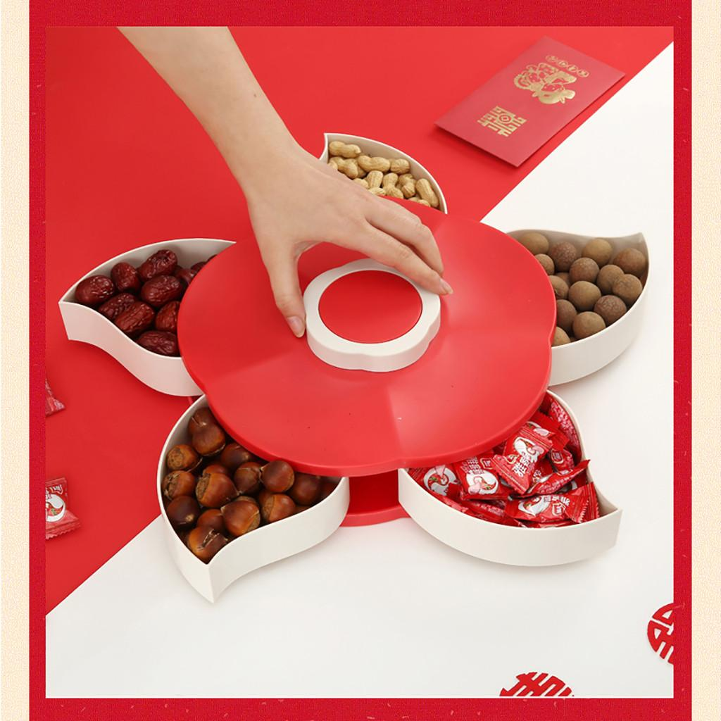Candy Box Creative with Lid Dried Fruit Box Sealed Wedding Fruit Box Snacks Tray