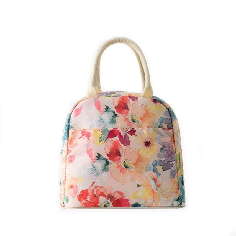 Beutel für Frauen-Mode-Handtaschen gedruckt Reusable Lunch Tote Bag Isolierte Lunch Bags Grocery Arbeits Schule Picknick Camping Grill