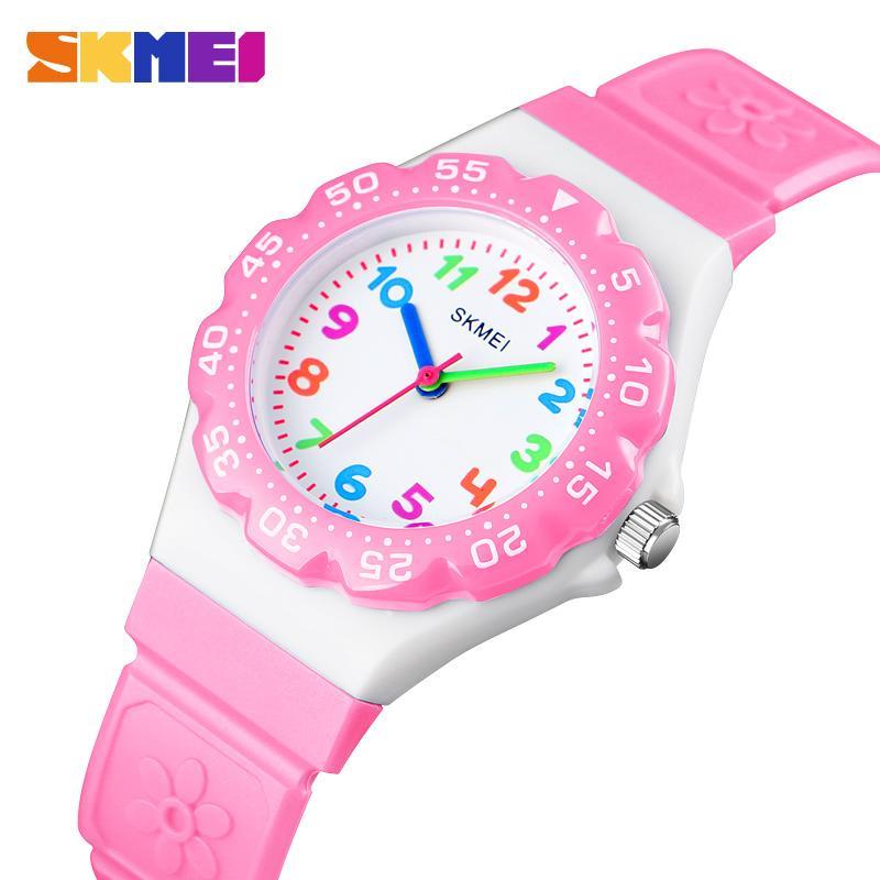 SKMEI New Kids Relógios Outdoor Sports Wristwtatch Rapazes Meninas Waterproof PU Pulseira Quartz Crianças Relógios 1483 reloj