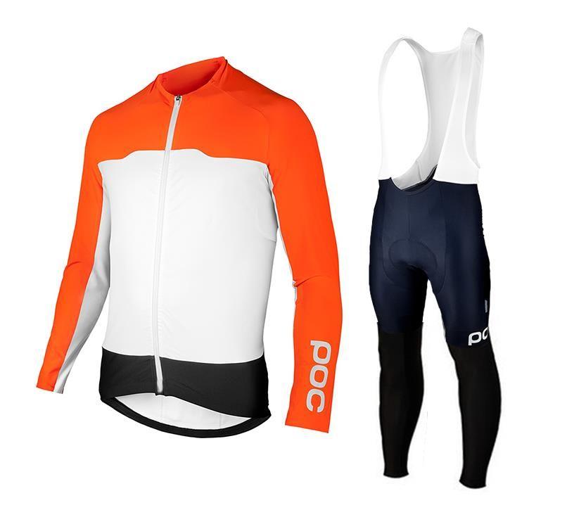 poc cyclisme maillot équipe Top hommes de qualité 2020 Printemps / Automne mince à manches longues Maillot cyclisme VTT Maillots Ciclismo Set vélo Vêtements