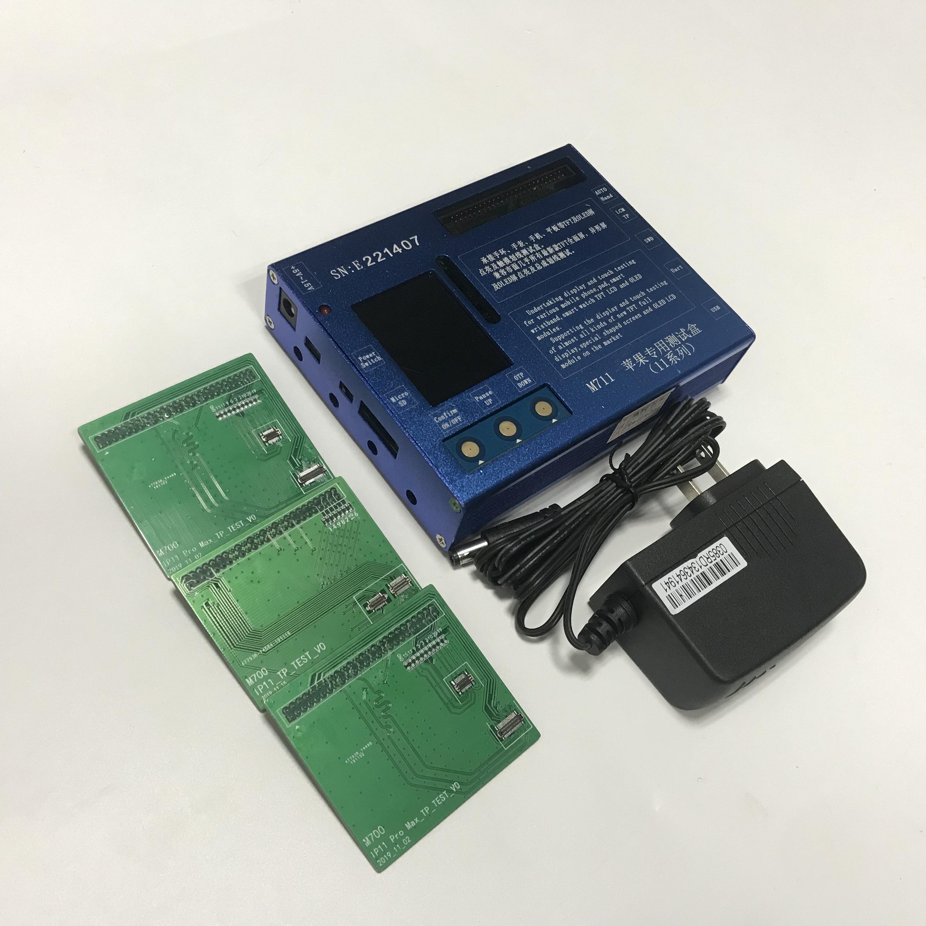 iPhone için 11/11 Pro / 11 Pro Max LCD AMOLED Ekran, Dokunmatik Ekran Digitizer 3 IN 1 LCD Tester Test Çerçeve Kutu Makinesi Tamir Araçları